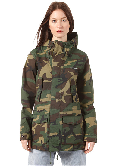 carhartt wip battle parka jacket veste pour femme camouflage planet sports. Black Bedroom Furniture Sets. Home Design Ideas