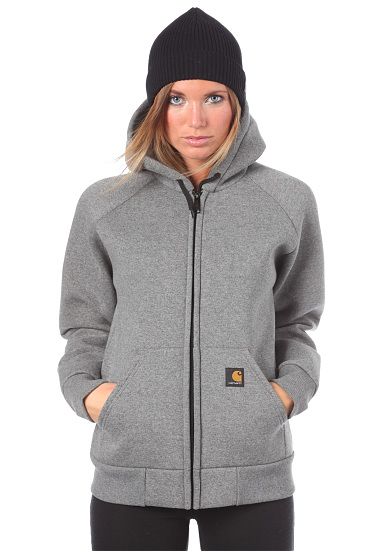 carhartt wip car lux thermo hooded sweatshirt. Black Bedroom Furniture Sets. Home Design Ideas