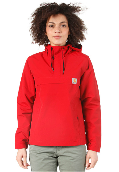carhartt wip nimbus pullover jacket jacke f r damen rot planet sports. Black Bedroom Furniture Sets. Home Design Ideas
