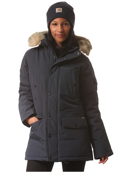 carhartt wip x 39 anchorage parka jacke f r damen blau. Black Bedroom Furniture Sets. Home Design Ideas