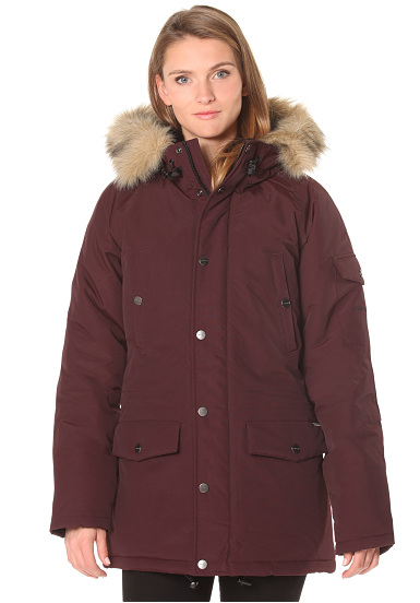 carhartt wip x 39 anchorage parka jacke f r damen rot. Black Bedroom Furniture Sets. Home Design Ideas