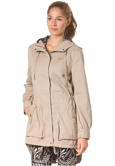 adidas cas woven parka jacket mantel f r damen beige. Black Bedroom Furniture Sets. Home Design Ideas
