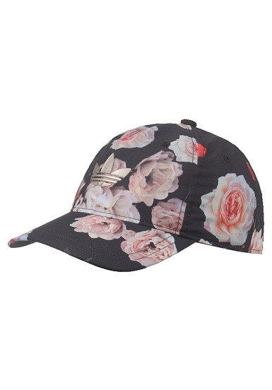 adidas rose print snapback cap f r damen schwarz planet sports. Black Bedroom Furniture Sets. Home Design Ideas
