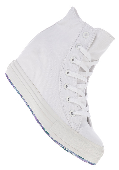 Converse Chuck Taylor All Star Platform Plus Hi Canvas - Sneakers for Women  - White 0f563bc063b