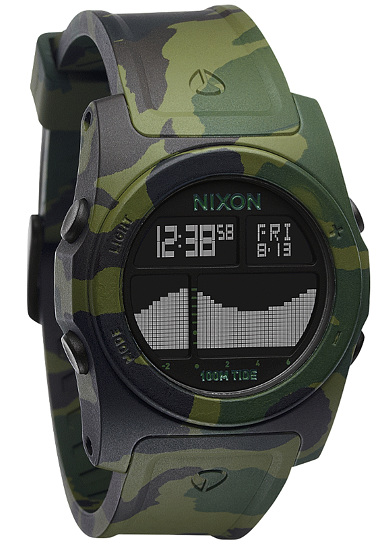 nixon rhythm uhr f r herren camouflage planet sports. Black Bedroom Furniture Sets. Home Design Ideas