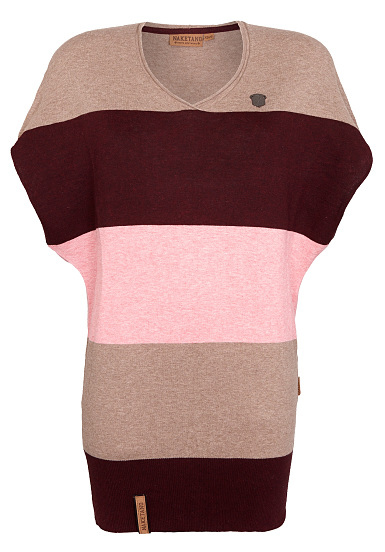 naketano schneeleopard knitted pullover for women brown planet sports. Black Bedroom Furniture Sets. Home Design Ideas