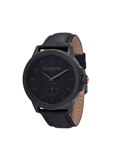 quiksilver kombat lthr watch watch for men black planet sports quiksilver kombat lthr watch watch for men black