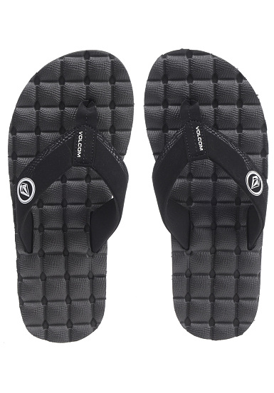 Men for Volcom Recliner Black Sandals qw4XPO0