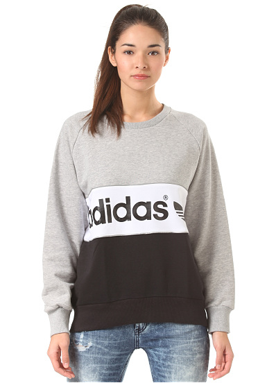 adidas city sweat pour femme gris planet sports. Black Bedroom Furniture Sets. Home Design Ideas