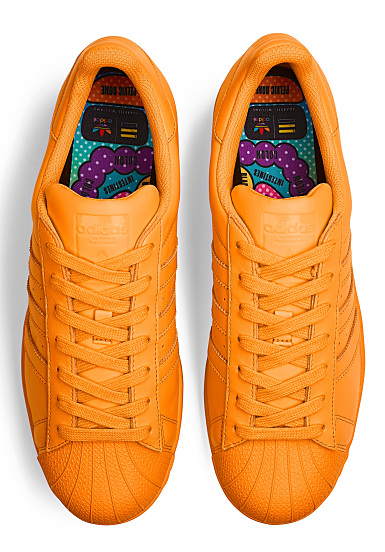 adida superstars arancione