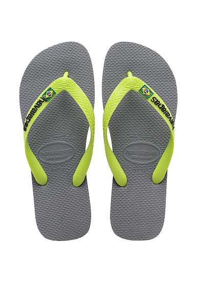 a4b6ff240e076 HAVAIANAS Brasil Logo - Sandals - Grey - Planet Sports