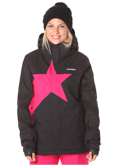 zimtstern snowy 15 snowboardjacke f r damen schwarz. Black Bedroom Furniture Sets. Home Design Ideas