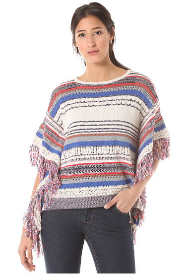 Rich & Royal Striped Knit Jersey para Mujeres Multicolor