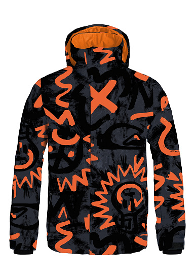 quiksilver mission printed veste de snowboard pour homme noir planet sports. Black Bedroom Furniture Sets. Home Design Ideas
