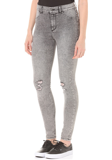 Cheap Monday High Spray - Vaqueros para Mujeres - Gris