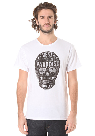 Hurley Rest In Paradise - Camiseta para Hombres - Blanco