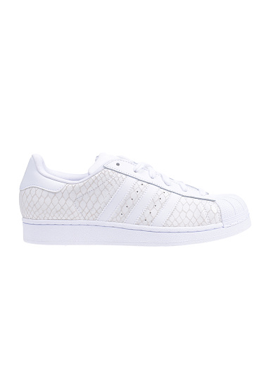 adidas superstar dames wit met print