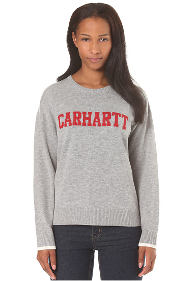 carhartt wip college pull pour femme gris planet sports. Black Bedroom Furniture Sets. Home Design Ideas