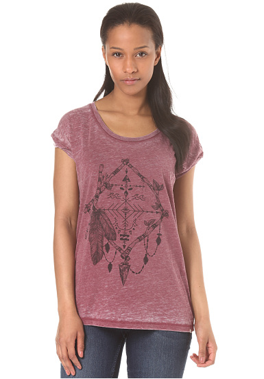 BILLABONG All Night - Camiseta para Mujeres - Rojo