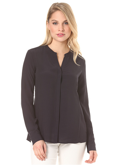 Rich & Royal V Blouse Viscose  Blusa para Mujeres  Azul