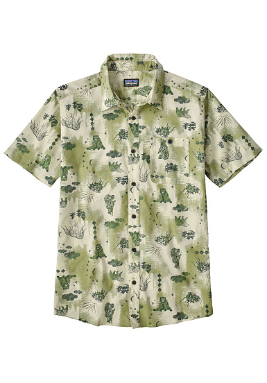 check-out 2aa41 d2863 PATAGONIA Go To - Camicia per Uomo - Verde