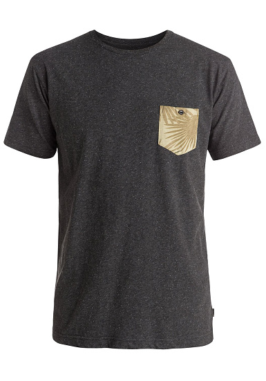 quiksilver loose change t shirt pour homme noir planet sports. Black Bedroom Furniture Sets. Home Design Ideas