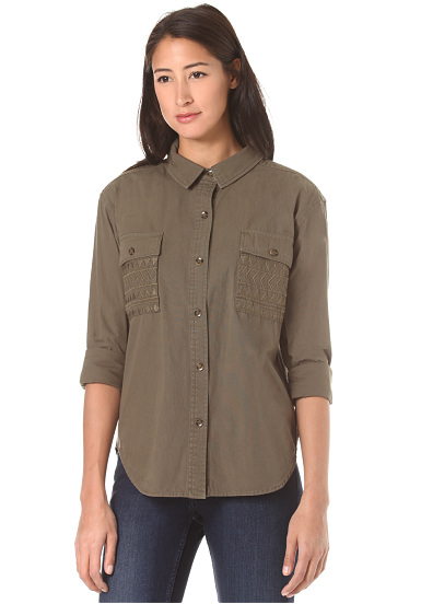 Volcom Wyld Journey L/S - Camisa para Mujeres - Verde