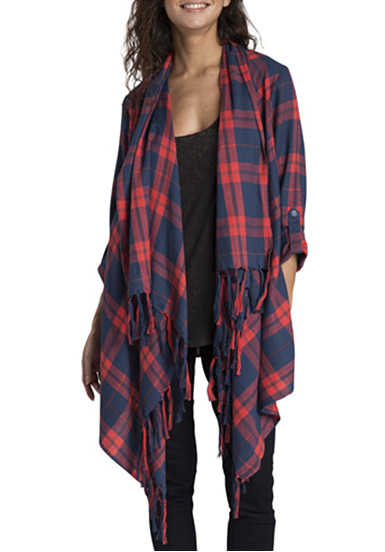 billabong the love of plaid veste pour femme carreaux. Black Bedroom Furniture Sets. Home Design Ideas