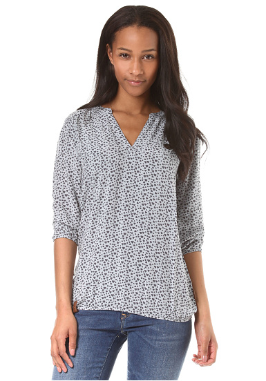 NAKETANO Excuse My French II - Blusa para Mujeres - Gris