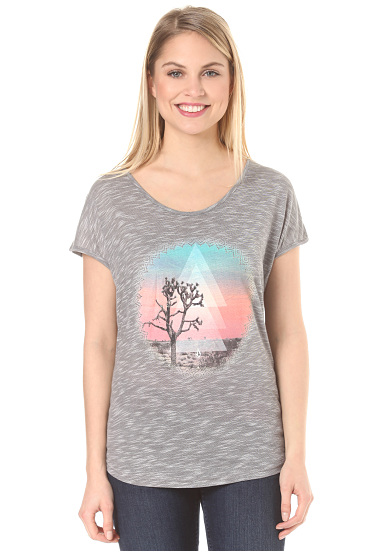 Volcom Got Your Back  Camiseta para Mujeres  Gris