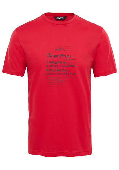 THE NORTH FACE Tansa - Camiseta para Hombres - Rojo