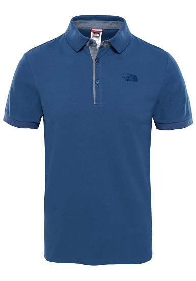 THE NORTH FACE Premium Pique - Polo para Hombres - Azul