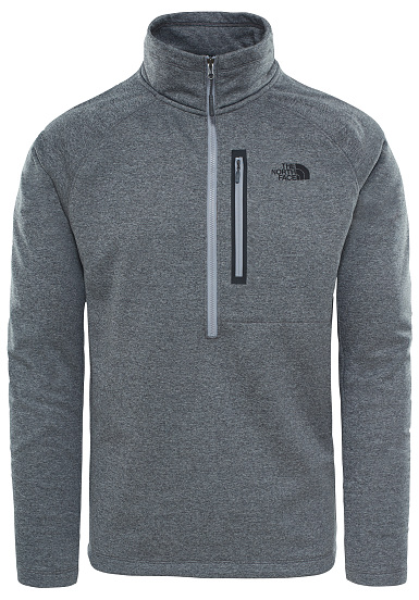 THE NORTH FACE Canyonlands 1/2 Zip - Jersey de Outdoor para Hombres - Gris