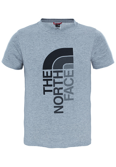 ce04e3a4e6a THE NORTH FACE Ascent - T-Shirt for Kids Boys - Grey - Planet Sports