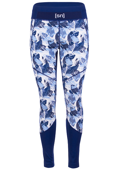 SUPER.NATURAL Motion Tights Printed - Mallas para Mujeres - Azul