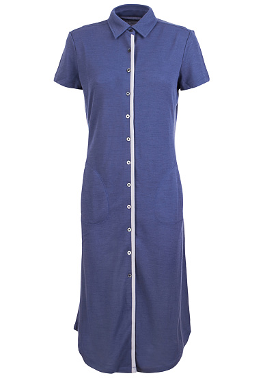 SUPER.NATURAL Waterfront Piquet - Vestido para Mujeres - Azul
