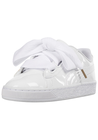 Puma Basket Heart Patent Sneakers voor Dames Wit