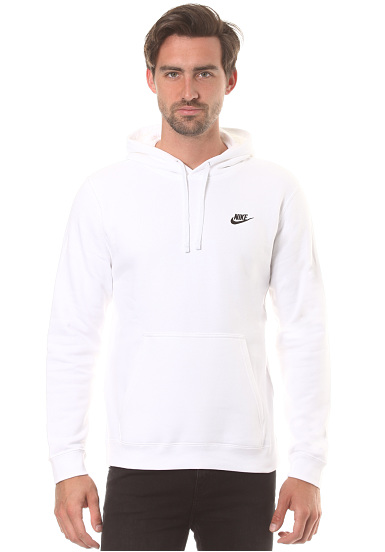 100% quality picked up vast selection NIKE SPORTSWEAR Club Po - Hooded Sweatshirt for Men - White