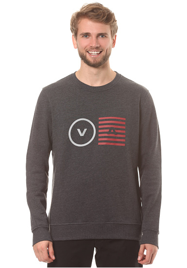 RVCA Opposite Objects Crew - Sudadera para Hombres - Gris