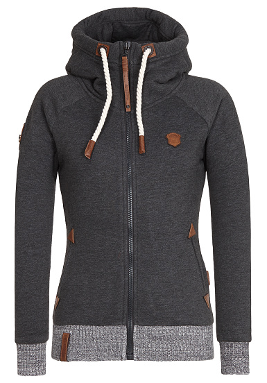NAKETANO Every world knows it III - Chaqueta con capucha para Mujeres - Gris
