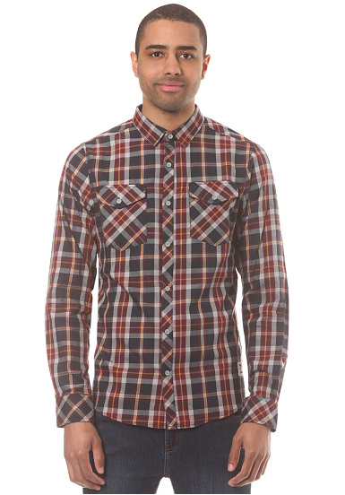 Iriedaily Mc Valle L/S - Camisa para Hombres - Gris
