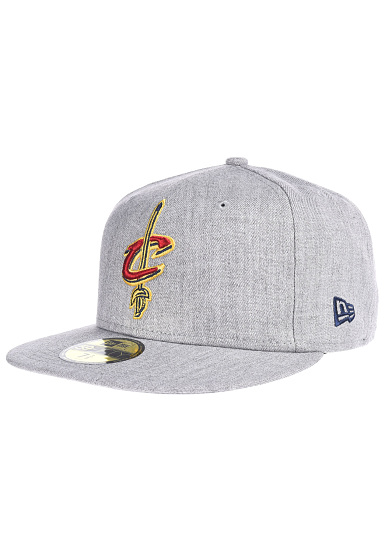 NEW Era NBA Heather Fitted Cleveland Cavaliers - Gorra ajustada - Gris e7e92a6390b