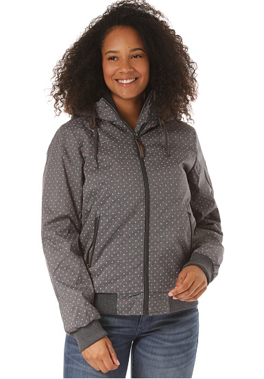 RAGWEAR Women Jacke Nuggie Slub dark grey