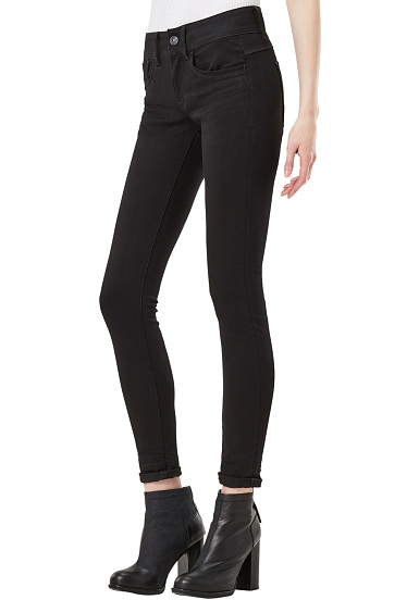 G-STAR Lynn D-Mid Super Skinny Yield Ultimate Stretch - Vaqueros para Mujeres - Azul