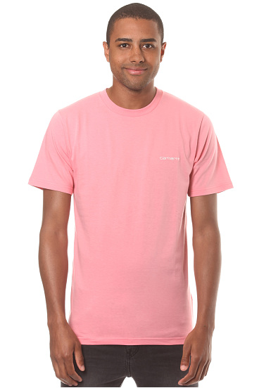 Carhartt WIP Script Embroidery - Camiseta para Hombres - Rosa
