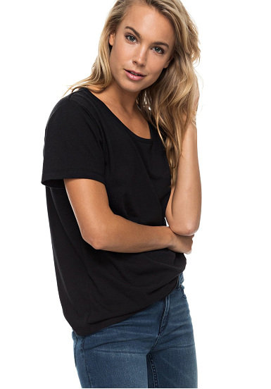 Roxy Just Simple Solid - Camiseta para Mujeres - Negro