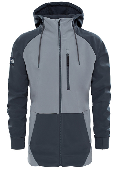 THE NORTH FACE Longtrack Softshell - Chaqueta funcional para Hombres - Gris