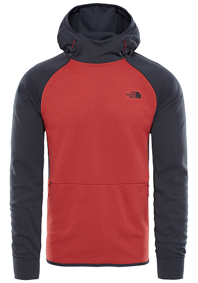Slacker Homme North The Face Pour À Sweat Mountain Rouge Capuche tawqw68x