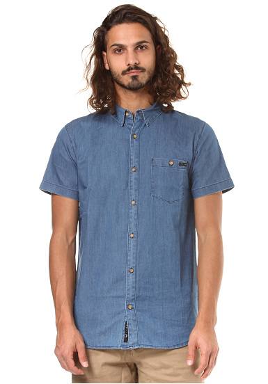 Rusty Luster S/S - Camisa para Hombres - Azul