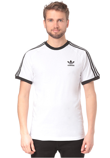 Blanc Adidas Stripes Sports Originals Planet Shirt Homme 3 T Pour 661rUwq0